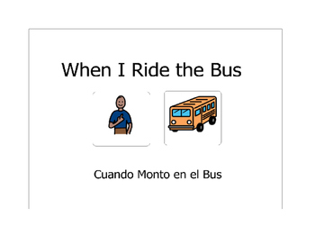 Bilingual (Spanish) Social Story- bus behaviors