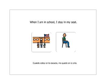Bilingual (Spanish) Social Story- school behaviors