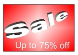Bilingual Spanish and English  : role-play Sale and offers posters