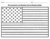Bilingual Spanish/English Pledge of Allegiance On American Flag