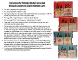 Bilingual Spanish/English Re-Usable Student Generated Alphabet Cards