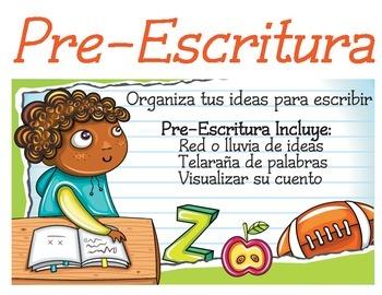Bilingual Spanish/English Writing Process Signs - Proceso de Escritura