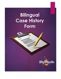 Bilingual Speech Case History Form