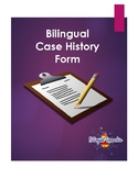 Bilingual Speech Case History Form