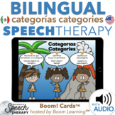 Bilingual Speech Therapy Categories Categorías Boom Cards™ English and Spanish