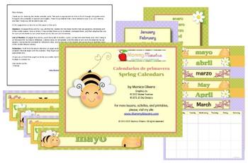 Bilingual Spring Calendars