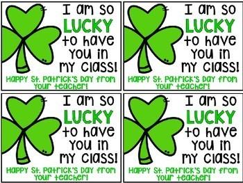 Bilingual St. Patrick's Day Encouragement Notes
