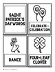 Bilingual St. Patrick's Word Cards FREE