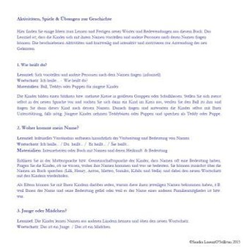 Short Story Book 1 German & English (names, personal pronouns)