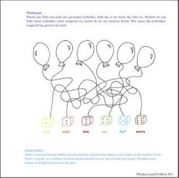 Short Story (birthday, family members, numbers, food) German/English Book 2