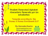 Student Generated Alphabet Template Abecedario Generado por los estudiantes