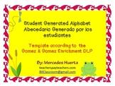 Student Generated Alphabet Template Abecedario Generado po