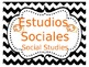 Bilingual Subject Signs with Icons (Chevron Design, Editable)