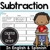Bilingual Subtraction Unit in English & Spanish