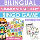 Bilingual Summer Vocabulary BINGO Game - Juego de lotería
