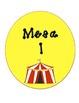 Bilingual Table Labels  (Circus Theme)
