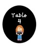 Bilingual Table Labels (Hollywood Theme)