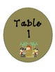 Bilingual Table Labels (Pirate Theme)