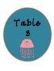 Bilingual Table Labels (Sea Life Theme)