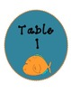 Bilingual Table Labels (Sea Life Theme)
