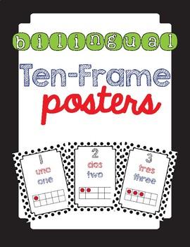 Bilingual Ten Frame Posters