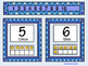 Bilingual Ten Frames-Numbers 1 to 10-Blue