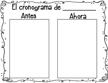 Bilingual Then and Now Timeline