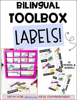 Bilingual Teacher Toolbox Labels! 27 Labels!