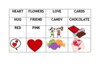 ESL Valentine Matching Activity