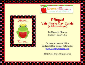 Bilingual Valentine's Cards