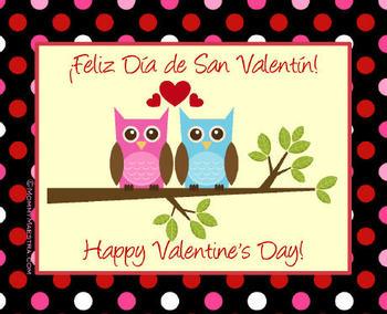 Bilingual Valentine's Cards