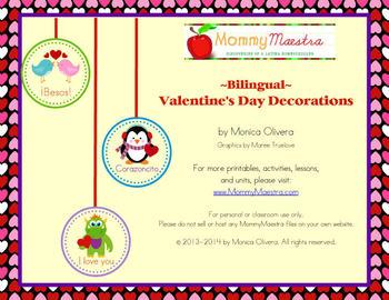 Bilingual Valentine's Decorations
