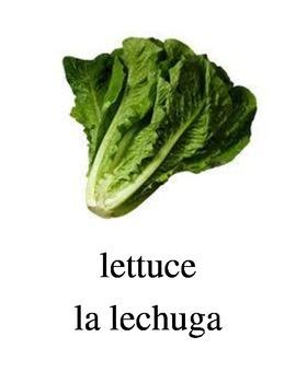 Bilingual Vegetables English and Spanish PDF