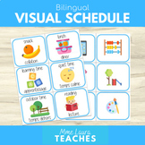 Bilingual Visual Schedule Cards - Learning at Home