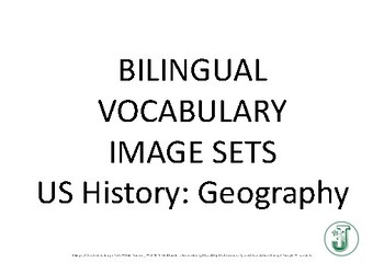Bilingual Vocabulary Image Set (Spanish): 8th Grade US History TRIAL