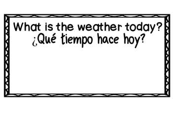 Bilingual Weather Cards - What's the Weather?