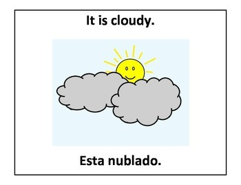 Bilingual Weather Posters