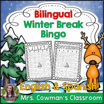 Bilingual Winter Break Bingo Activity