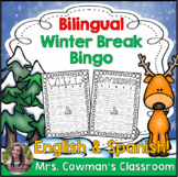 Bilingual Winter Break Bingo Activity