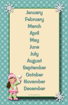 Bilingual Winter Calendars