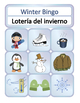 Bilingual Winter Vocabulary Games - Find the Match and Bingo