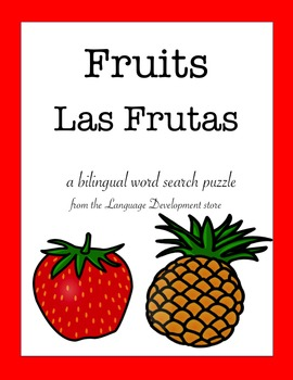 Bilingual Word Search - Fruits / Las Frutas (English/Spanish)