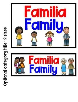 Bilingual Word Wall Family