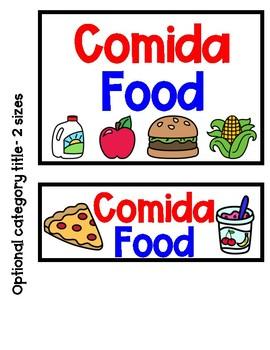 Bilingual Word Wall Food