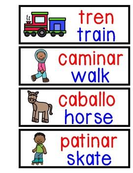 Bilingual Word Wall Transportation