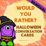 """Bilingual """"Would you rather? / ¿Preferirías?"""" Questions - Halloween Edition"""
