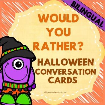 "Bilingual ""Would you rather? / ¿Preferirías?"" Questions -"