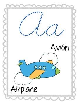 Bilingual alphabet cards