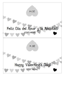 Bilingual and Editable Valentine's Day present