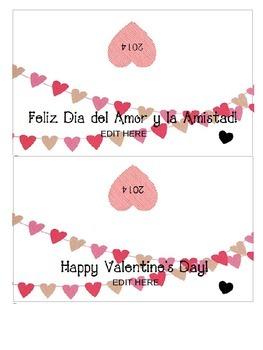 Bilingual and Editable Valentine's Day present